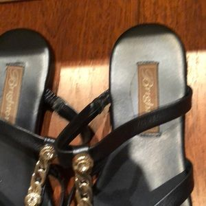 dcaf78e916552 Brighton Shoes - Brighton Navy Rhinestone Leather Cage Sandals